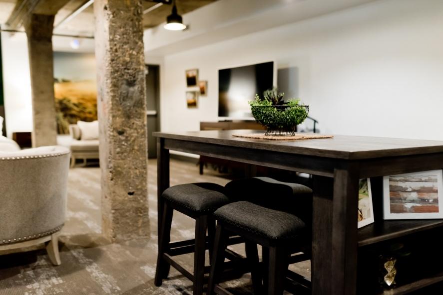vinyl padló luxus szobában